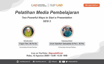 Pelatihan Media Kolaborasi PAI X FKIP Untuk PLP