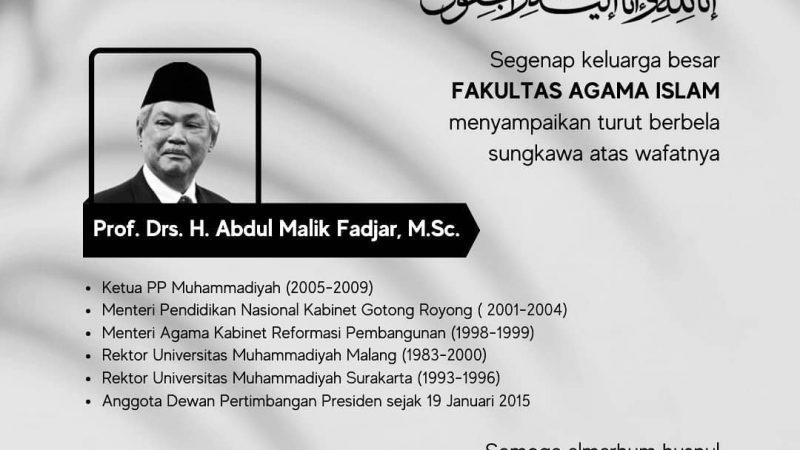 Berita Lelayu: Prof. Drs. H. Abdul Malik Fadjar, M.Sc.