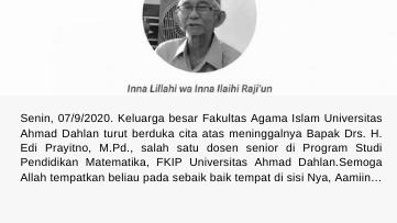 Berita Lelayu: Bapak Drs. H. Edi Prayitno, M.Pd.