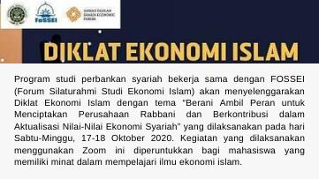 Info Agenda: Diklat Ekonomi Islam
