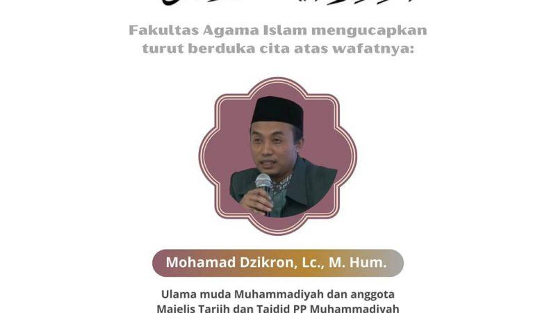 Berita Lelayu: Bapak Mohammad Dzikron, Lc., M.Hum.