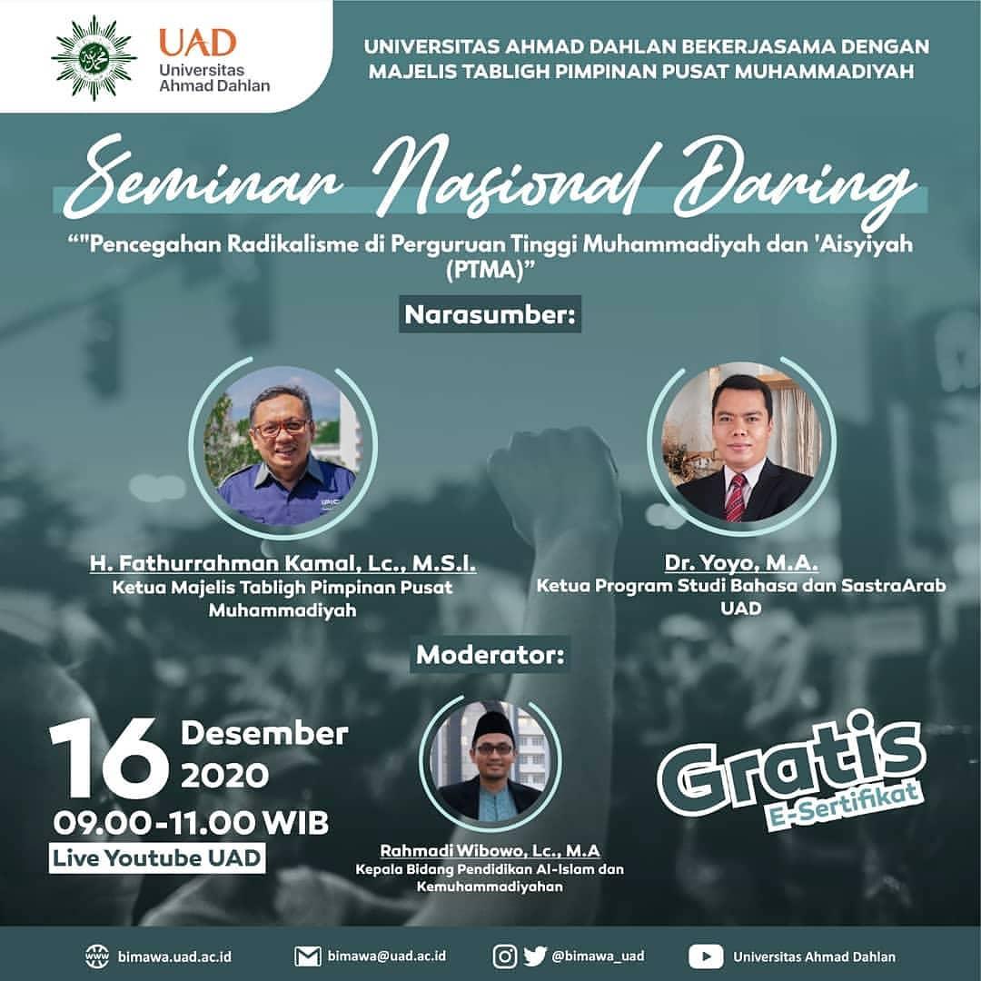 Ketua Program Studi Bahasa Arab Menjadi Narasumber di Acara PP Muhammadiyah