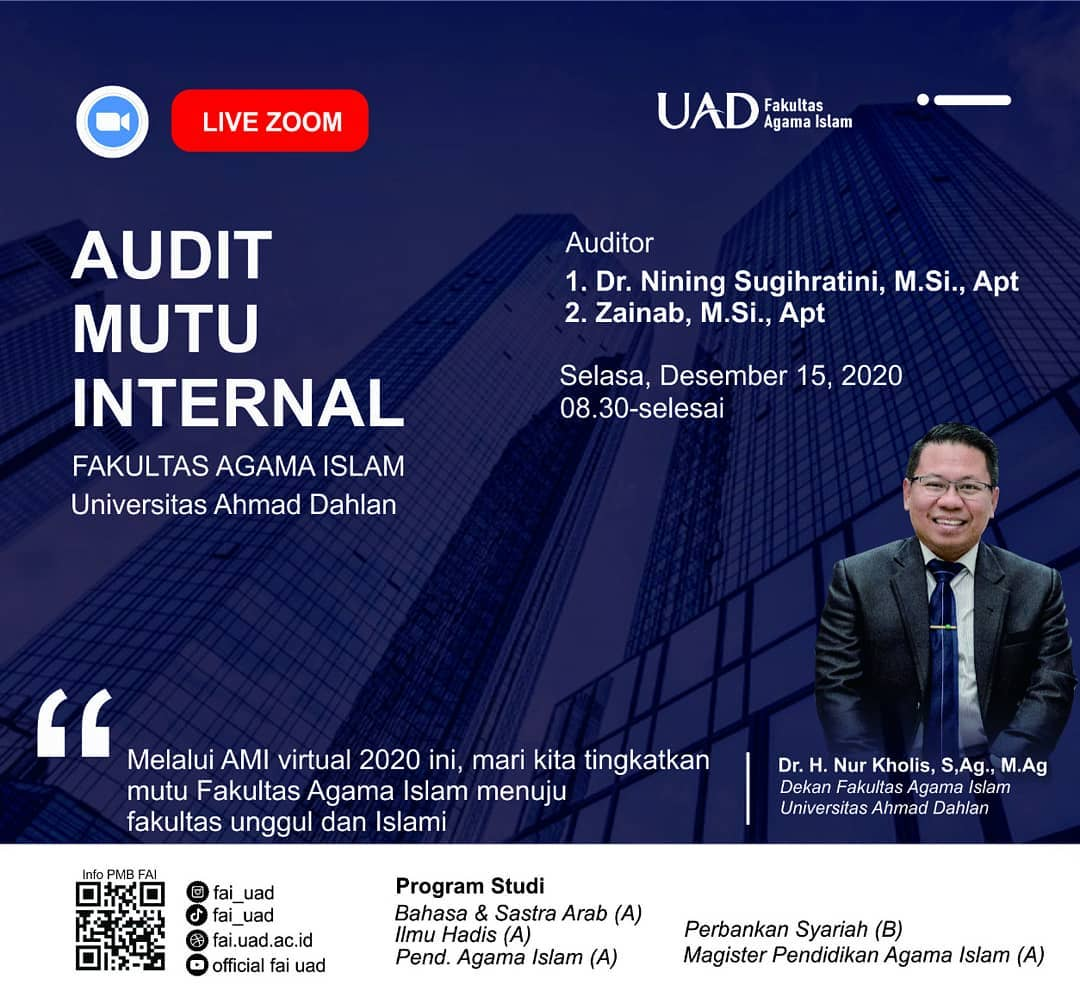 Audit Mutu Internal (AMI) 2020 di FAI UAD