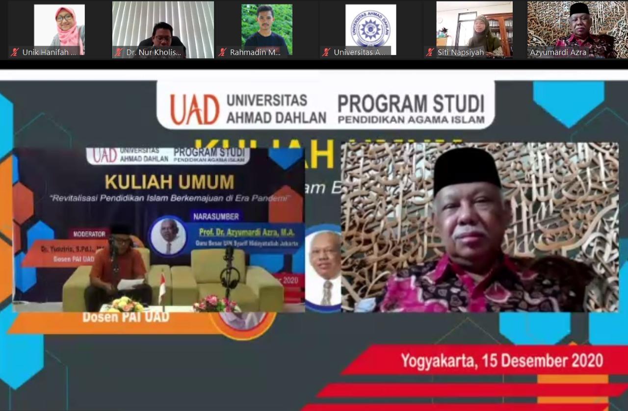 """Kuliah Umum Prodi PAI Bertajuk """"Revitalisasi Pendidikan Islam Berkemajuan di Era Pandemi"""""""