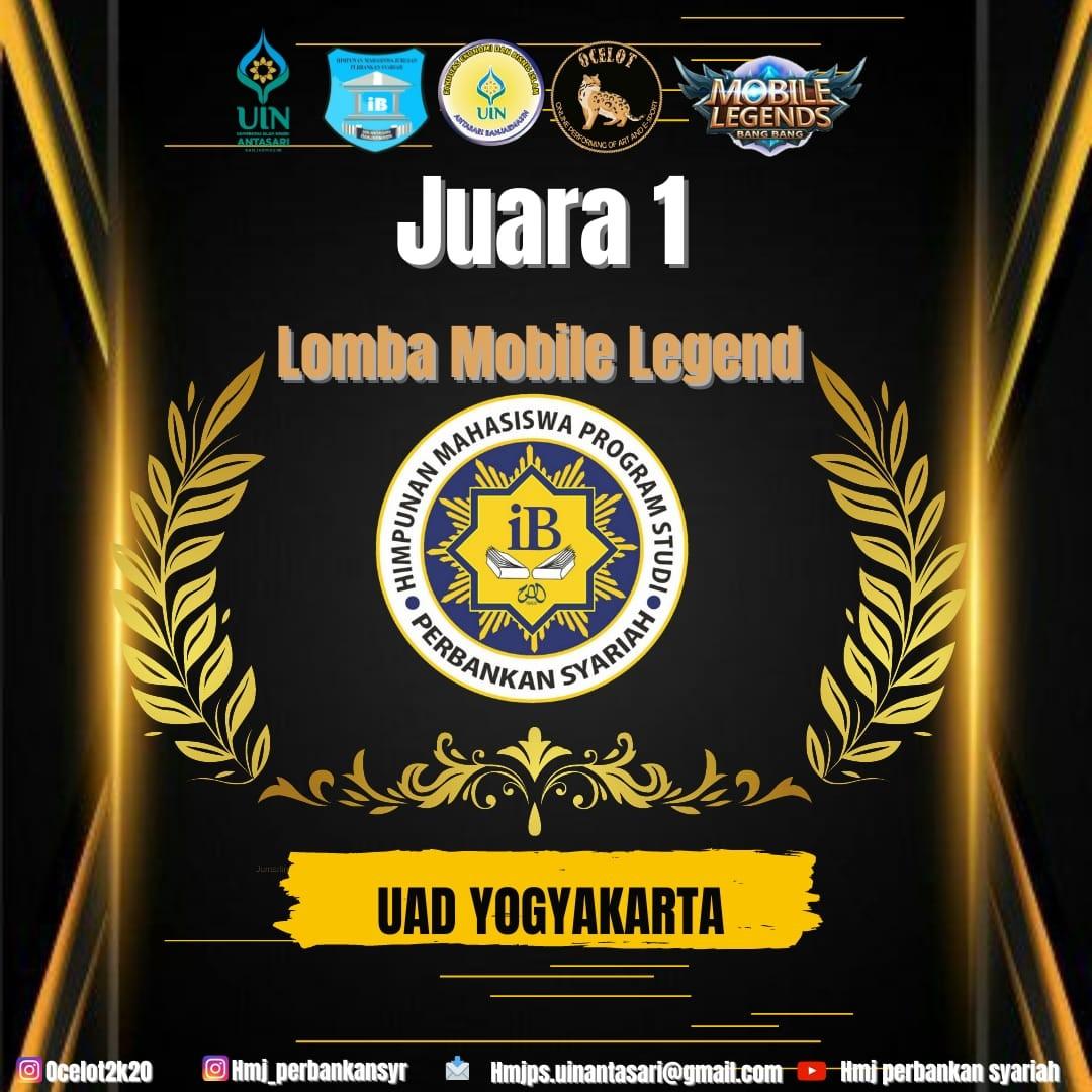 Mahasiswa PBS UAD Juara Nasional Lomba Game E-Sport di Banjarmasin