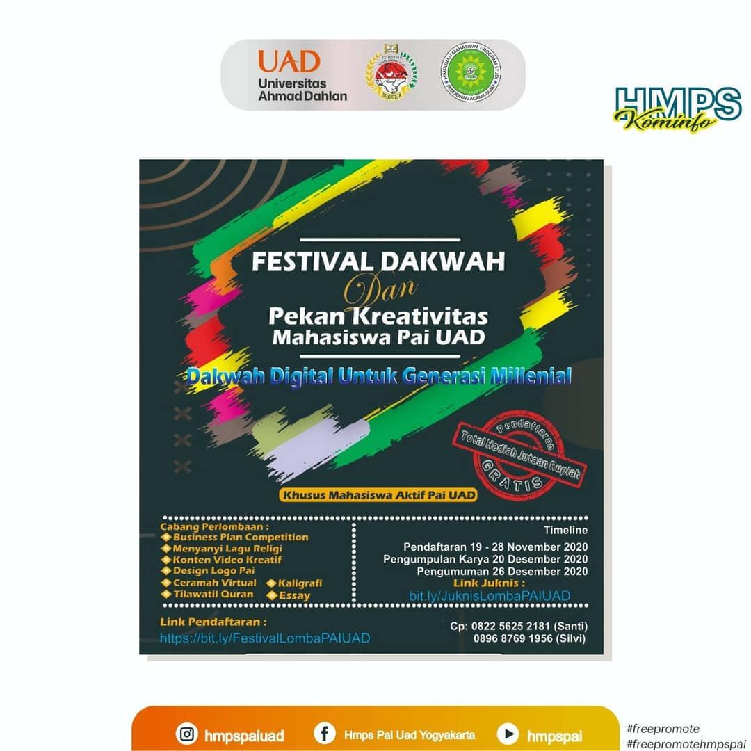 Festival Dakwah dan Pekan Kreativitas Mahasiswa PAI UAD