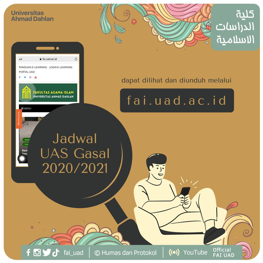 Info Admisi: Jadwal UAS Gasal 2020/2021